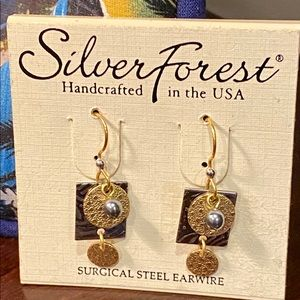 Gold plated Silver Forest Earrings